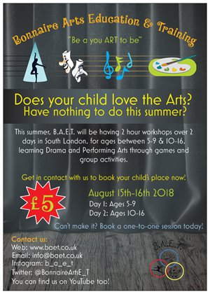 BAET Summer Workshops
